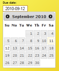 due date on kanban card